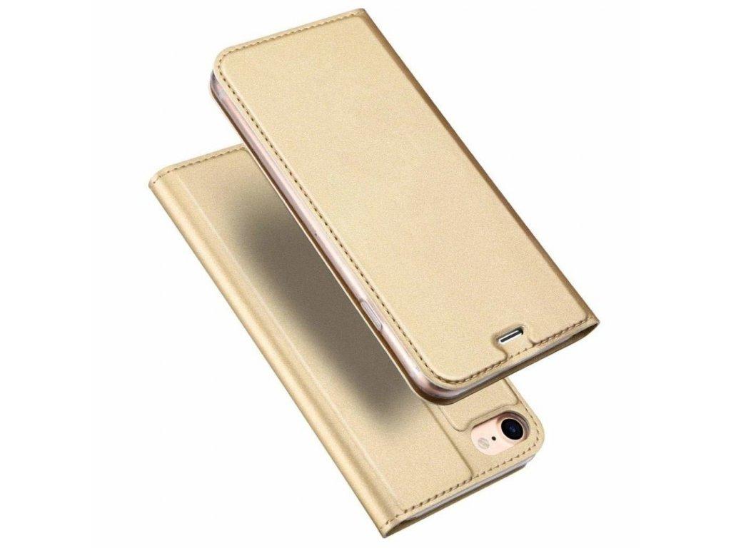 DUX DUCIS Magnetické Skin Book Phone 7/8 Zlatá