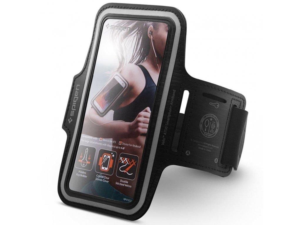Sportovní pouzdro na ruku pro iPhone - Spigen, Velo A700 Black