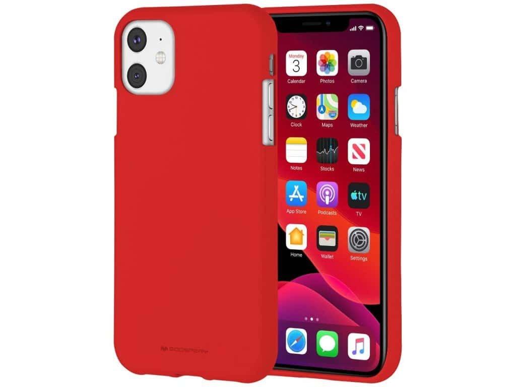 Ochranný kryt pro iPhone 11 - Mercury, Soft Feeling Red
