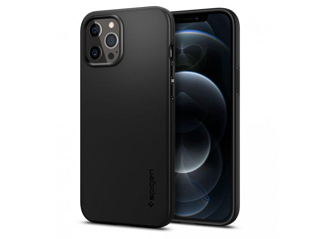 36077 8 ochranny kryt pro iphone 12 pro max spigen thin fit black