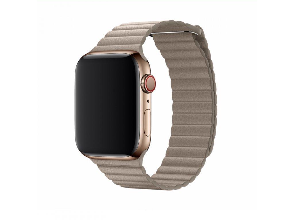 17918 reminek pro apple watch 42mm 44mm devia leatherloop stone