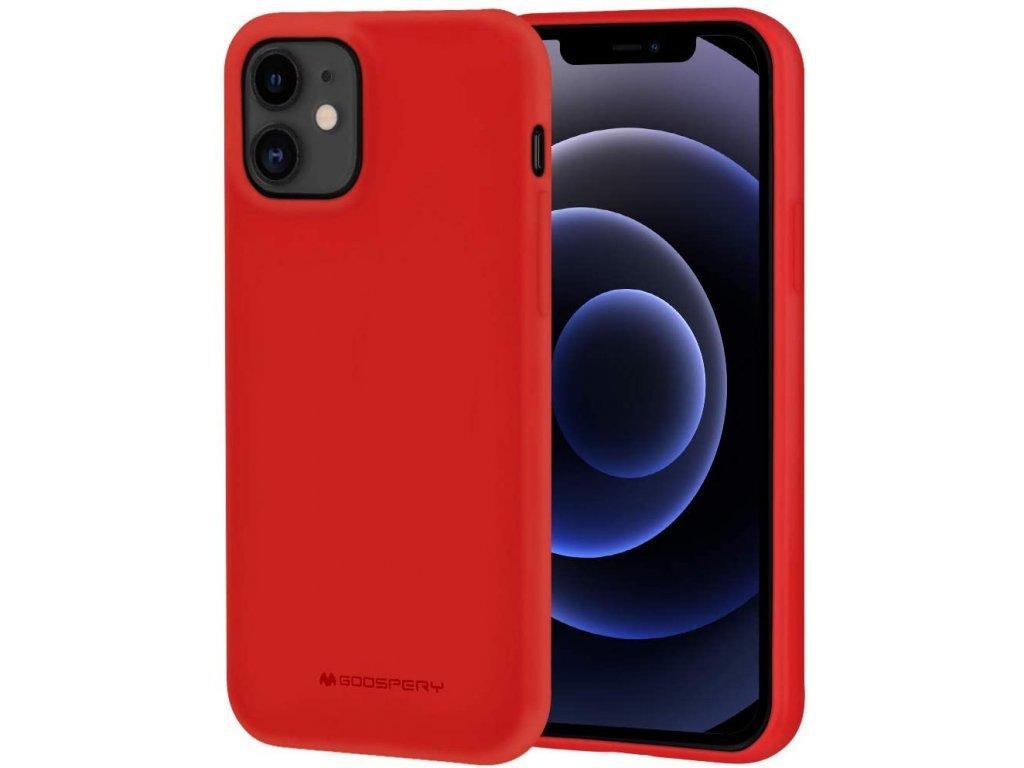 36758 ochranny kryt pro iphone 12 12 pro mercury soft feeling red