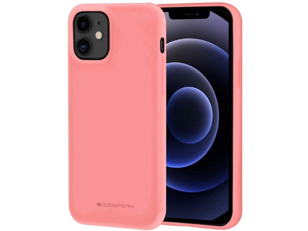 36761 ochranny kryt pro iphone 12 12 pro mercury soft feeling pink