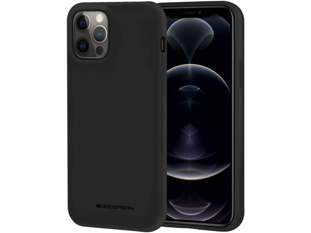 36776 ochranny kryt pro iphone 12 pro max mercury soft feeling black