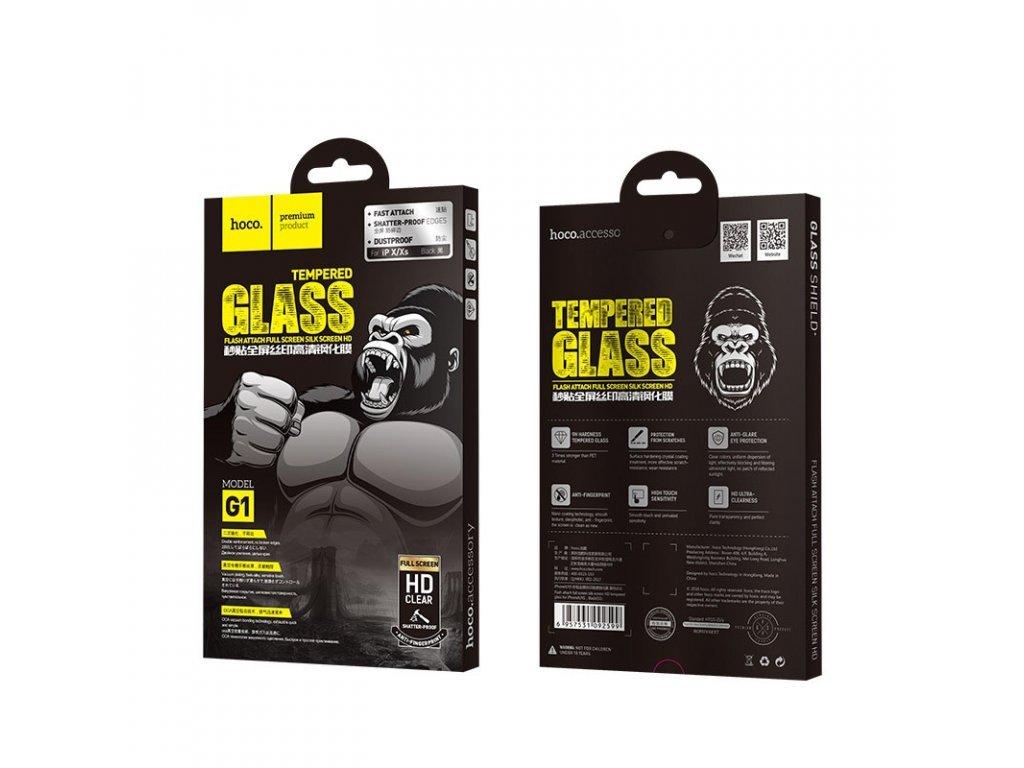 22922 8 ochranne tvrzene sklo pro iphone x xs 11 pro hoco g1 flashattach 3d black