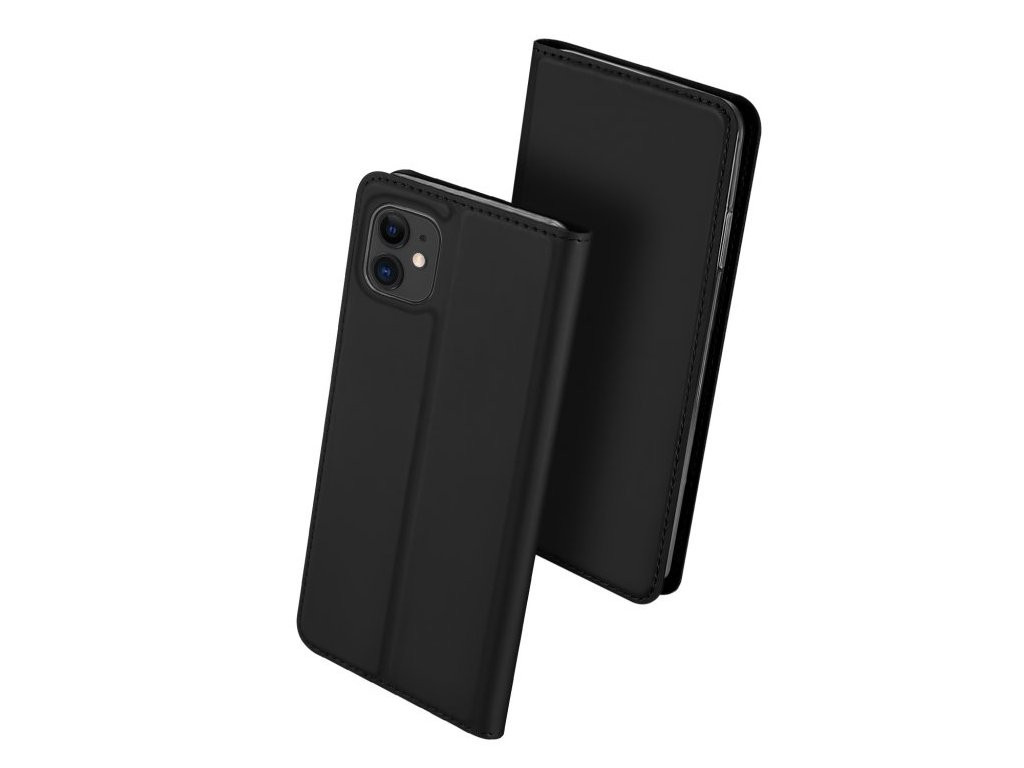 Knížkové pouzdro na iPhone 11 - DuxDucis, SkinPro Black