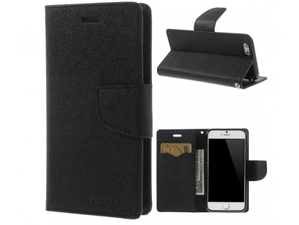 Pouzdro / kryt pro Apple iPhone 6 / 6S - Mercury, Fancy Diary Black/Black