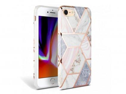 25217 ochranny kryt pro iphone 7 8 se 2020 tech protect marble pink