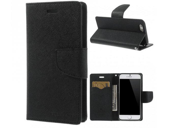 Pouzdro / kryt pro Apple iPhone 6 / 6S - Mercury, Fancy Diary Black/Black